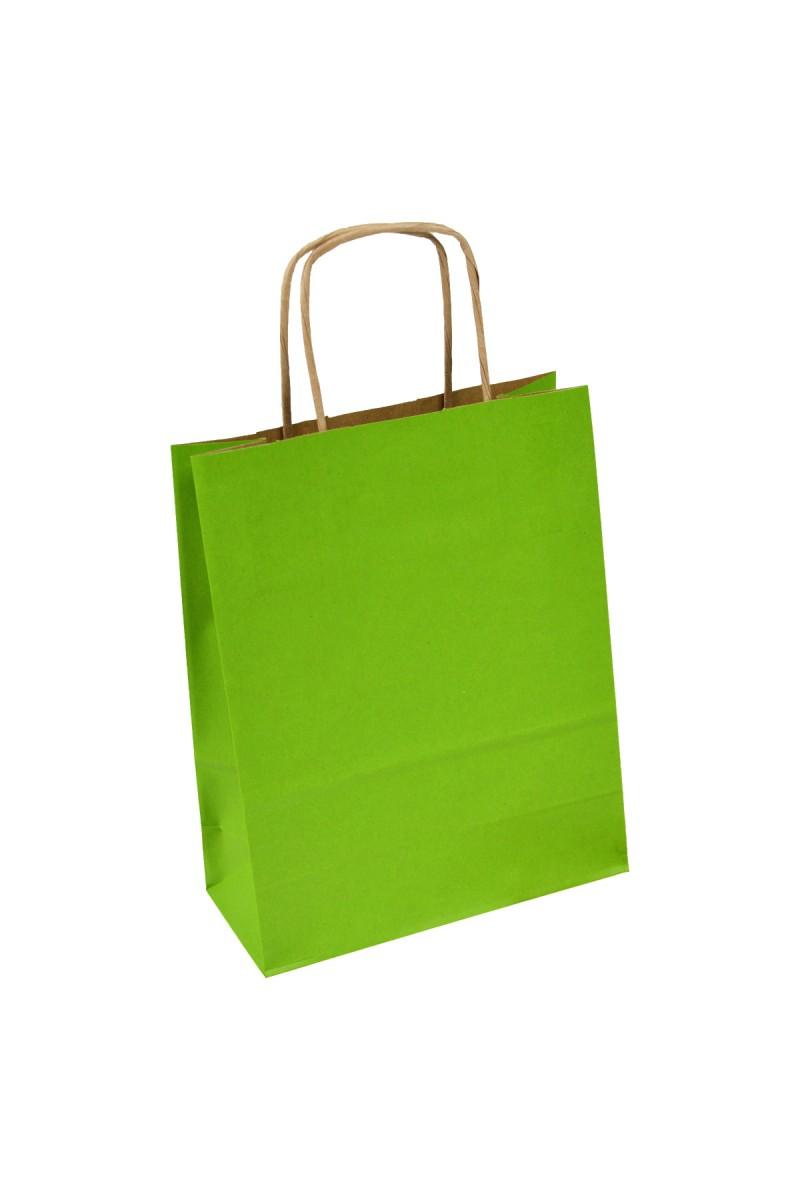 Papierowe kolorowe torby z uchwytem skręcanym - Kolor 1