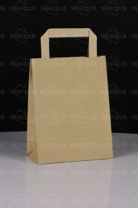 torba papierowa brązowa z płaskim uchwytem - model A1