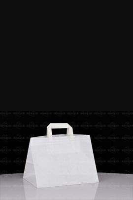 K2 - Torba biała cateringowa z dużym dnem - Uchwyt płaski