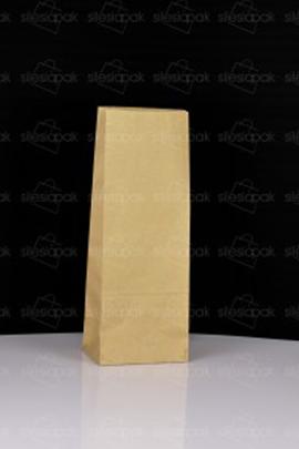 Ekologiczna torba papierowa klockowa brązowa bez uchwytu