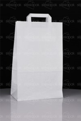 Biała torba papierowa ekologiczna B2 z uchwytem skręcanym