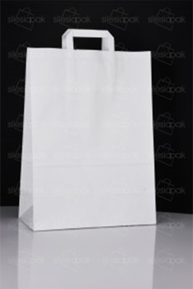 torba papierowa biała i ekologiczna B2 z uchwytem płaskim